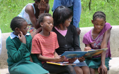 Encouraging kids in Zambia to read with The Lubuto Library Partners